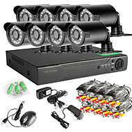 8CH 960H Network DVR  8PCS 1000TVL IR Outdoor CCTV Security Camera System