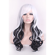 Black/White Harajuku Ombre Wig Pelucas Pelo Curly Natural Heat Resistant Anime Cosplay erruque Synthetic Wigs Women hair style