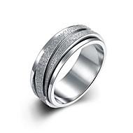 새해 맞이 밴드 반지 클래식 티타늄 스틸 스틸 실버 보석류 용 결혼식 일상 1PC