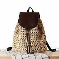 STYLE-CICIWomen Outdoor Straw Magnetic Backpack