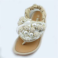 Girl's Summer Comfort / Open Toe / Sandals Glitter Outdoor Flat Heel Pink / Ivory