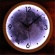Fashion LED Lamp Luminous Moon Wall Clock