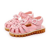 Girls' Shoes Libo New Style Hot Sale Outdoor / Evening / Casual Peep Toe Comfort Sandals Pink / Fuchsia/ White