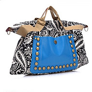 Women Bags All Seasons Canvas Shoulder Bag with for Casual Blue