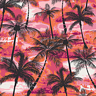 JAMMORY Trees/Leaves Wallpaper Contemporary Wall Covering,Canvas Abstract Coconut Tree