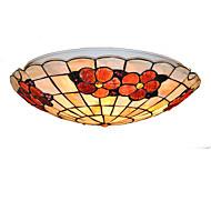 16 inch Retro Tiffany Ceiling Lamp /Shell Shade Flush Mount Living Room Dining Room light Fixture