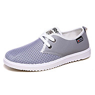 Men's Shoes Tulle Athletic Sneakers Athletic Sneaker Flat Heel Lace-up Blue / Gray / Khaki