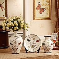 Three-piece Ceramic Crafts Vases