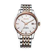 Semdu® Fashion Stainless Steel Calendar Water Resistant Noctilucent Mechanical Wristwatch Casual Watch