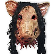 kammottava sika naamiot cosplay koko kasvot halloween syntymäpäivä Barty festivaalin osapuolen kumi puku teatteri realistinen maski