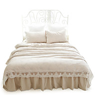 Well Designed Lace Bedding 4PC Duvet Cover Sets