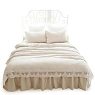 Květinový Povlečení 4 kusy Bavlna Současné Reaktivní barviva Bavlna Queen / King 2 ks polštář / postelový sukýnka 1 ks / Pokrývka 1 ks