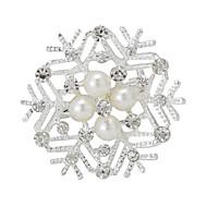 boutique pérola natal neve broche de flor de casamento para as mulheres