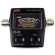Nissel rs-40 dual band seisovan aallon mittari tehomittarilla swr mittari testaukseen SWR teho