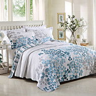 100% Cotton  Floral 3 pieces Quilted Bedspread set ,California King Size