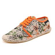 Damen-Flache Schuhe-Lässig Sportlich-Stoff-Flacher Absatz-Espadrillas-Lila Grau Orange