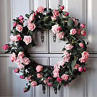 1pc 1 Ramo Plástico Plantas Guirlandas & Flor de Parede Flores artificiais 45*45*5cm