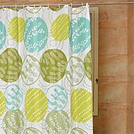 """Country Cartoon Pattern Shower Curtains W71""""×L71"""""""