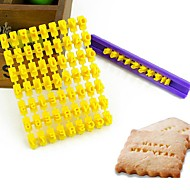 Hot Sale Alphabet Number Cookies Biscuit Letter Stamp Embosser Fondant Cake Decorating Mold Braking Cutter Random Color