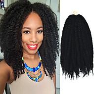 """svart 17"""" Kanekalon afro frekke fletter vri havanna krøllete syntetisk hår fletter 100g"""
