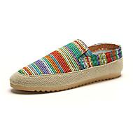 Men's Loafers & Slip-Ons Summer Comfort Tulle Casual Flat Heel Brown Green Blue