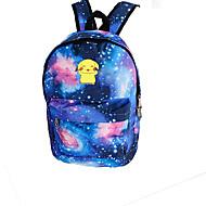 ficka lite monster pika pika galax natt lysande fluorescerande duk ryggsäck väska