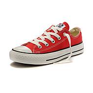 Sko-Lerret-Flat hæl-Rund tå-Sneakers-Friluft / Fritid / Sport-Svart / Rød / Hvit / Beige / Burgunder