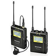 מערכת מיקרופון lavalier אלחוטית 96 ערוצים UHF uwmic9 saramonic עבור DSLR sony Canon ניקון PENTAX& וידאו מצלמות וידאו