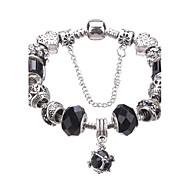 Dame Piger´ Charm-armbånd Strand Armbånd Krystal Holdbar Mode Yndig Perler Europæisk Akryl Rhinsten Sølvbelagt Legering Geometrisk form