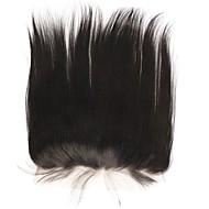 14 Noir Sans bonnet Droit (Straight) Cheveux humains Fermeture Brun roux Dentelle Suisse 80 gramme Moyenne Cap Taille