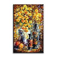 Ručně malované Zátiší olejomalby,Styl / Moderní / Klasický / Tradiční / Realismus / Středomoří / Pastýřský / evropský styl Jeden panel