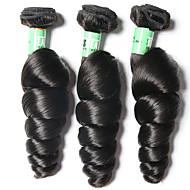 Az emberi haj sző Brazil haj Laza hullám 3 darab haj sző