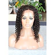 Cabelo humano virgem glueless laço cheio de peruca de renda encaracolada com cabelo de bebê para mulheres negras