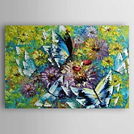 Oil Painting  Impression Landscape Butterfly and Fower Hand Painted Canvas with Stretched Framed Ready to Hang