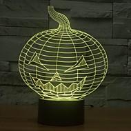 3d Kürbis Form tuning Licht-Bewegungsmelder Licht für Halloween-Farbwechsel-Nachtlicht