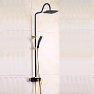 All copper lift shower shower European black bronze rotating flower is aspersed suit