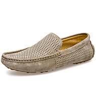 Men's Shoes Nappa Leather Party & Evening / Casual Flats Party & Evening / Casual Flat Blue / Khaki