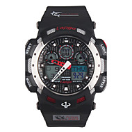 PASNEW Men's Round Dial Casual Watch PU  Strap Digital  Watch 100m Water Resistance Watch (Assorted Colors)