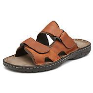 Herre-Nappa Lær-Flat hæl-Komfort-Tøfler og flip-flops-Friluft Fritid-