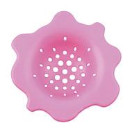 (Couleur aléatoire) 1pc fleur cuisine forme vidange de lavage évier filtre attrape-cheveux filtre bouchon arrivée