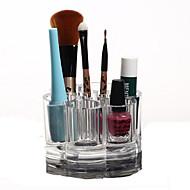 Opbevaringsløsninger til makeup Kosmetik Boks / Opbevaringsløsninger til makeup Plastik / Akryl Ensfarvet Rund 9.2x9.2x5.9 Bisque