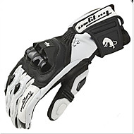 AFS18 LEATHER RACING GLOVE FURYGAN White Motorcycle Racing Leather Long Gloves