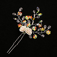 Women's Rhinestone / Brass / Alloy / Imitation Pearl / Plastic Headpiece-Wedding Hair Pin 1 Piece