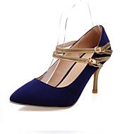 Women's Spring / Summer / Fall Heels Leatherette Outdoor / Office & Career / Casual Stiletto Heel Split Joint Black / Blue / Red