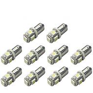 10PCS BA9S 5050 5smd 백색 차 빛 자동차 전구 표시 번호판지도 돔 포장 자동차 스타일링 12V 주도