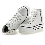Women's Shoes Fabric Wedge Heel Comfort Fashion Sneakers with Zipper