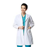 Medicinsk hvid frakke lang ærmet fortykning mand xl