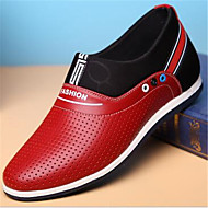 Men's Shoes Leather Party & Evening / Casual Oxfords Party & Evening / Casual Walking Flat Heel Lace-up
