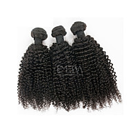 3pcs/Lot Brazilian Virgin Hair Afro Kinky Curly Human Hair Extensions Natural Black 8''-30'' Human Hair Weaves