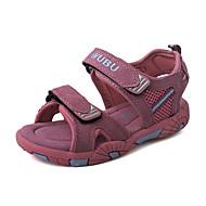 Sandály-Semiš Kůže-Pohodlné-Dívčí-Červená-Outdoor Běžné-Plochá podrážka